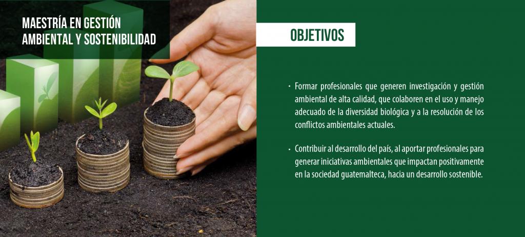 Maestría en Gestión Ambiental y Sostenibilidad.